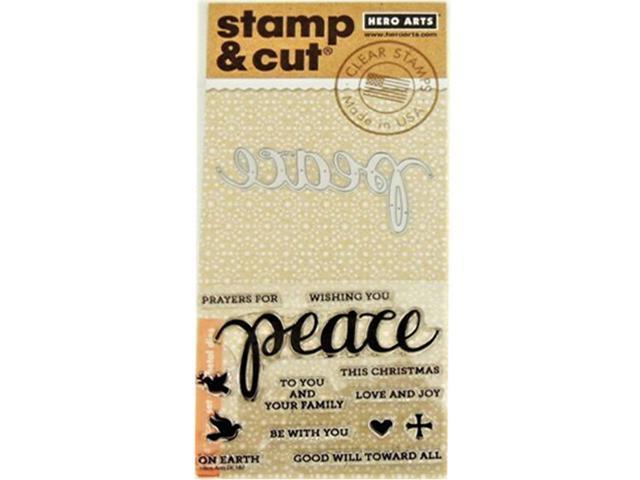 Hero Arts Peace Stamp and Cut Set #DC187