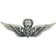 "Army Air Force Master Flight Surgeon Wings 2.58"" Badge Pin - $18.04"