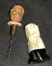 Corkscrew Vintage Carved Wood Marble 2 Faces Signed BOUYE Hidden Worm 128 gr image 4
