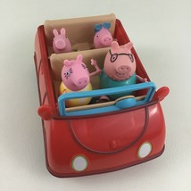 Peppa Pig Deluxe Family Car Convertible Mummy Dad George Peppa 2003 Jazwares Toy - $32.93