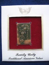 1984 Family Unity Traditional Values Replica 22kt FDC Golden Gold Cover ... - $6.92