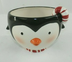 Hallmark 2007 Penguin Treat Bowl with Candy Cane Spoon  - $19.79