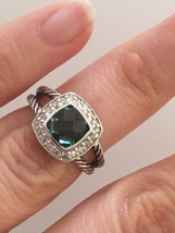 Pre Owned David Yurman Petite Albion  Prasiolite  and Diamond Ring Size 6 - $355.00