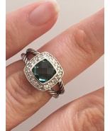Pre Owned David Yurman Petite Albion  Prasiolite  and Diamond Ring Size 6 - $355.00