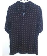 H&M PROUD Button Down Collared Black Shirt SZ Medium Gay Pride LGBTQ+ Ra... - $21.77