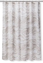 "New Project 62 Fabric Standard Top Gray Marble Shower Curtain 72""X72"" - $13.49"