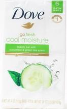Dove Go Fresh Cool Moisture 6 Beauty Bars Cucumber Green Tea Scent 1.5 LB - $19.99