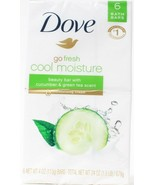 Dove Go Fresh Cool Moisture 6 Beauty Bars Cucumber Green Tea Scent 1.5 LB - $19.99