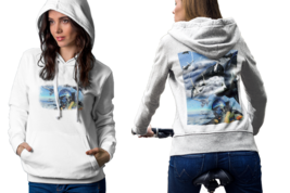 jet fighter Womens White Classic Hoodie - $30.99+