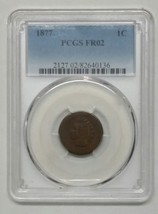1877 One Cent Indian Head Penny PCGS FR02 Coin Lot # SR 1111
