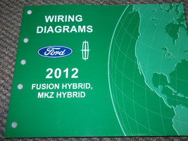 2012 Ford Fusion Lincoln Mkz Hybrid Diagramme Câblage Atelier Service Ma... - $9.93