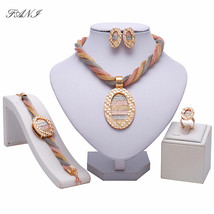 Fani Bridal Gift Nigerian Wedding woman accessories jewelry Set African ... - $23.22