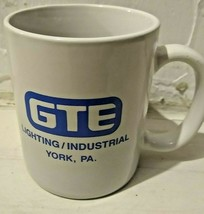 GTE Lighting/Industrial 1989 Ceramic Mug Perfect Attendance  - $19.95