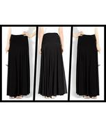 Ann Taylor Black Pintucked Chiffon Maxi Skirt - Size 6 - $69.95