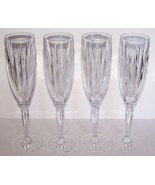"""LOVELY SET OF 4 CRISTAL D'ARQUES DURAND CRYSTAL CLASSIC 9 3/8"""" CHAMPAGNE FLUTES - $38.60"""