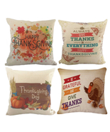 4 Thanksgiving Pillow Cases Decorations  - $25.99