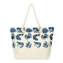 Sea creatures printed tote bag  - $39.95