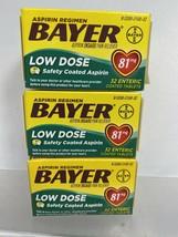 (3) Bayer Aspirin Regimen Low Dose 81mg 32Enteric Coated Tablet 2/21+ - $5.93