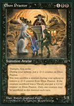 Magic: The Gathering: Fallen Empires - Ebon Praetor - $0.25