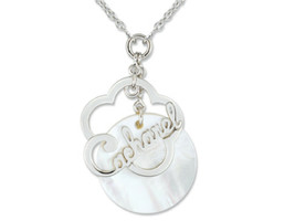 Necklace Cacharel Sterling Silver 0,925 Mother of Pearl  cubic Zir CMC23... - $58.41