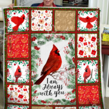 Cardinal bird blanket - I am always with you Sofa Fleece Blanket Gift - £38.46 GBP+