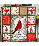 Cardinal bird blanket - I am always with you Sofa Fleece Blanket Gift - $67.47 CAD+
