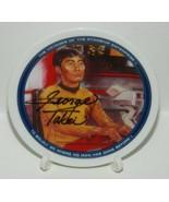 Star Trek Classic TV Series Lt. Sulu Mini Plate 1991 George Takei Autograph - $48.37