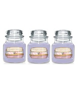 Yankee Candle Sweet Morning Rose Small Jar Candle Single Wick - Lot of 3 - $24.99