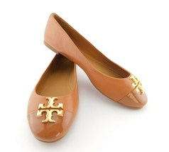 New Tory Burch Size 9 Royal Tan Everly Ballet Flats Shoes - $168.00