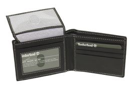 Timberland Men's Genuine Leather Passcase Credit Card Id Billfold Wallet image 5