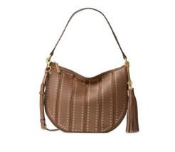 MICHAEL KORS Brooklyn Medium Grommet Hobo shoulder bag  $498 Caramel NWT - $160.38