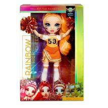 Rainbow High Poppy Rowan Cheerleader DOLL Orange Uniform Pom Poms CHEER ... - $38.99