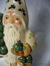 Vaillancourt Folk Art White Shamrock Coat Santa Signed no. 15017 image 4