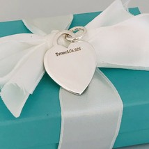 Tiffany & Co Sterling Silver Engravable Blank Heart Tag Charm or Pendant - $79.75