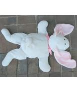Flatjack North American Bear Floppy Bunny Rabbit Plush Toy White Pink Bo... - $206.99