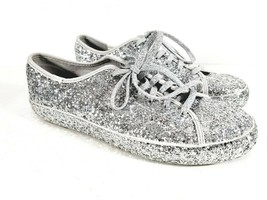 Keds Kate Spade New York Silver Glitter Sneakers Shoes Womens 8.5 US 39.... - $29.65