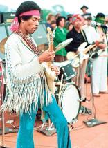Jimi Hendrix Woodstock Stage  2.5 x 3.5 Fridge Magnet - $3.99