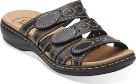 Clarks Leisa Cacti Sandals (Women's) $85 in Black Leather - NEW IN BOX - $80.70