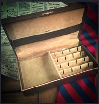 1950's Men's Velveteen Lined Jewelry Box , Vintage Rockabilly / Hipster ... - €20,13 EUR