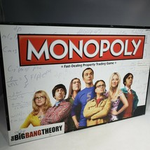 The Big Bang Theory Monopoly Board Game Complete Sheldon Leonard Penny 2... - $25.95