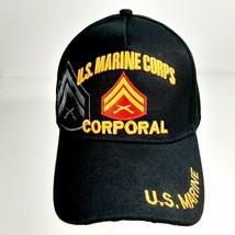 US Marine Corps Corporal Men's Ball Cap Hat One Size Black Acrylic - $12.37