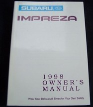 1998 subaru impreza owners manual new original - $20.99