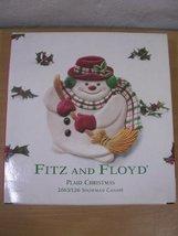 Fitz and Floyd Plaid Christmas Snowman Canape Plate - $25.99