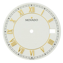 Movado 81 - E2 - 887 3 / 116 25.5 mm White Unisex Roman Watch Dial - $59.00