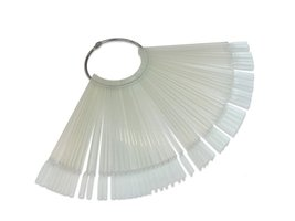 50pcs Nail Art Tips Stick Display Practice Fan Nail Polish Clear Color Swatches/ image 3