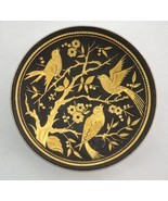 Toledo Damascene Footed Pin Dish Tray 18k Green, 24k Yellow Gold, bird &... - $33.99