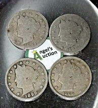 Liberty Head Nickel Five-Cent V Pieces  1894, 1897, 1998 and 1908 AA20-CNN2148 A image 1