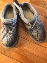 New UGG Freesia Cable Knit Slippers in Stormy Grey SZ Small 2-3 runs small - $39.60