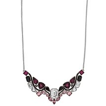 Swarovski Impulse 5152835 Multi Color Crystal Rhodium Plated Bib Necklace - $69.52