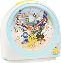 Pokemon Sun & Moon Alarm Clock Analog White Pearl Cute Gift Pikachu - $54.23